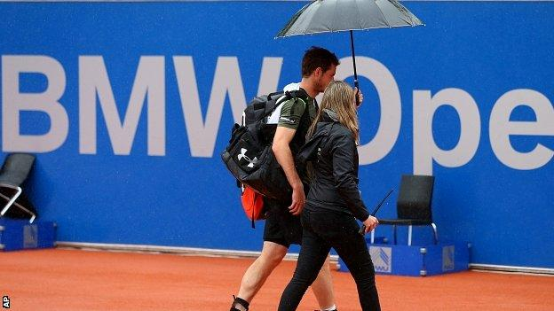 Rain has affected the whole week at the Munich Open