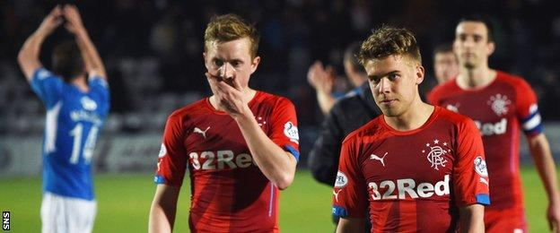 Rangers were stung 3-0 by Queens at Palmerston in April