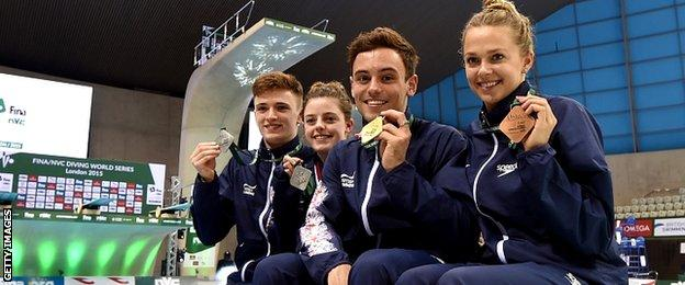 Matthew Lee, Georgia Ward, Tom Daley and Tonia Couch