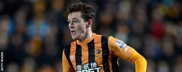 Andy Robertson in action for Hull City