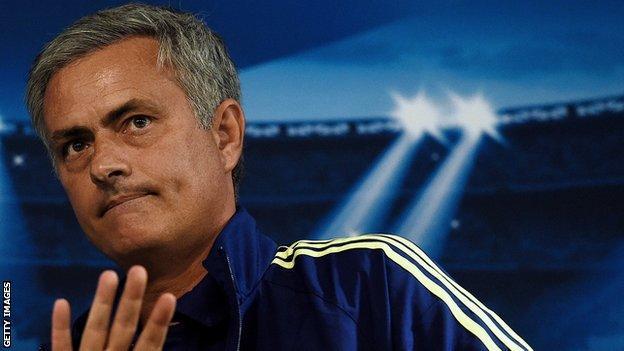 Jose Mourinho at a 2014 Champions League press conference