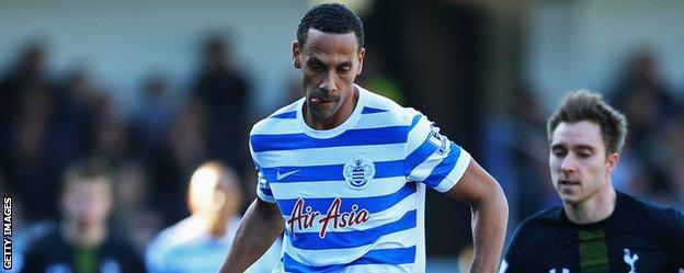 Rio Ferdinand in action for Queens Park Rangers