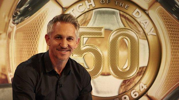 BBC Match of the Day presenter Gary Lineker