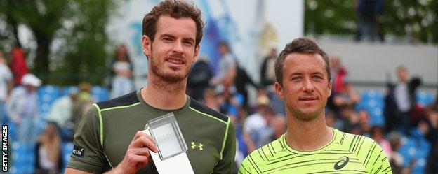 Andy Murray and Philipp Kohlschreiber