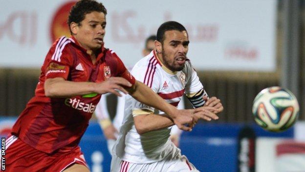 Ahly in action against Zamalek