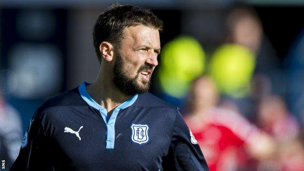 Kevin McBride in action for Dundee