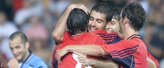 Pep Guardiola and Luis Enrique