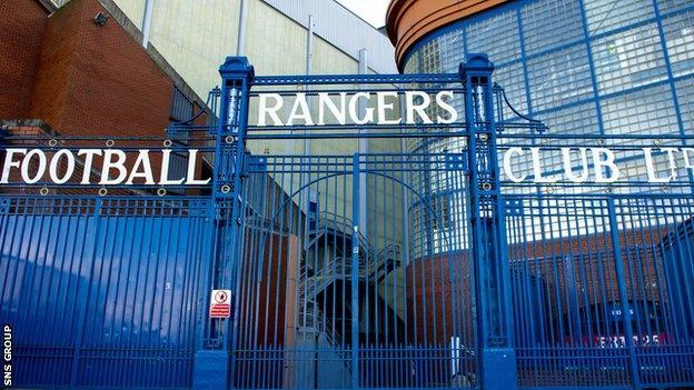Ibrox Stadium. home of Rangers FC