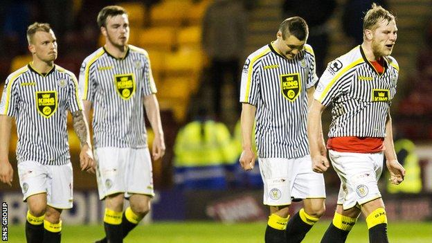 St Mirren are bottom of the Scottish Premiership