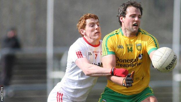 Tyrone's Peter Harte and Donegal's Michael Murphy