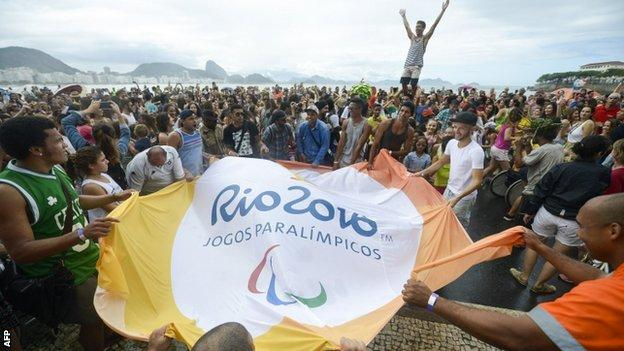 Crowds at Copacabana Beach
