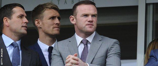 Michael Owen, Darren Fletcher and Wayne Rooney at Chester Races