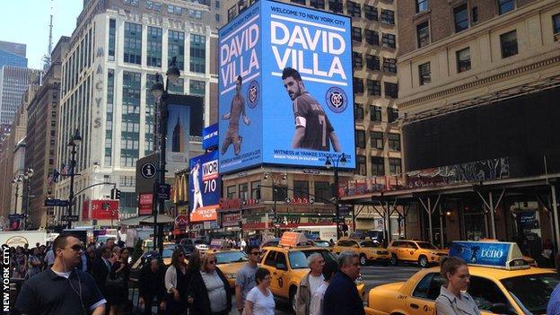 Advertising board in New York