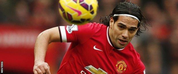 Man Utd striker Radamel Falcao