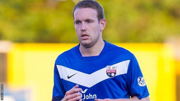 Montrose striker Garry Wood