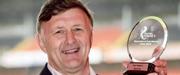 Montrose manager Paul Hegarty
