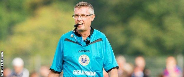 Shinty referee David Mitchell