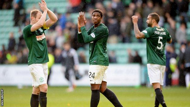 Hibernian finished second in the Championship behind Edinburgh rivals Hearts