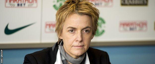 Hibernian chief executive Leeanne Dempster