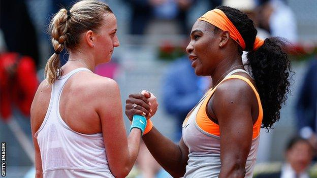 Petra Kvitoa & Serena Williams