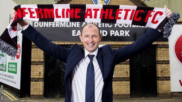 New Dunfermline manager Allan Johnston