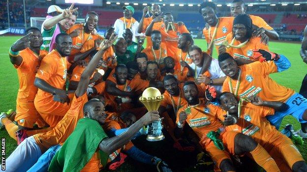 Ivory Coast's Nations Cup winners