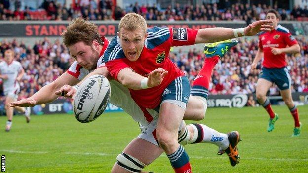 Iain Henderson denied Keith Earls a try