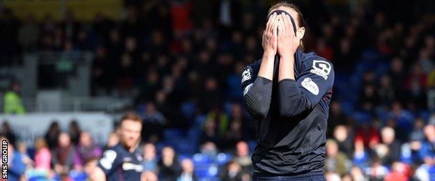 Ross County's Jackson Irvine rues a missed chance