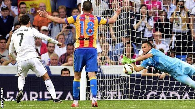 Cristiano Ronaldo penalty is saved