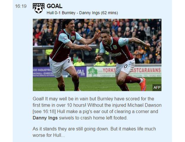 Burnley score