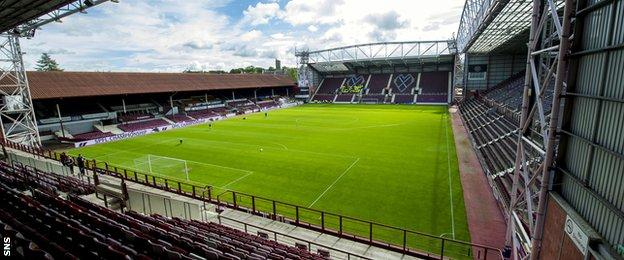Hearts could move from Tynecastle for a season