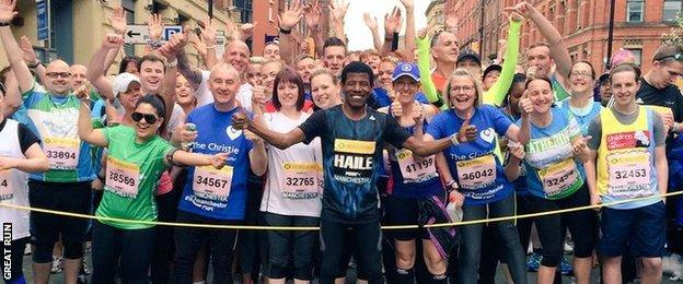 Haile Gebrselassie at the Great Manchester Run