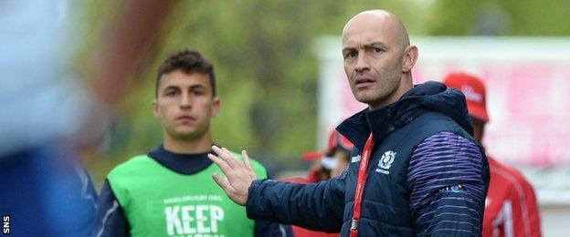 Scotland head coach Calum MacRae