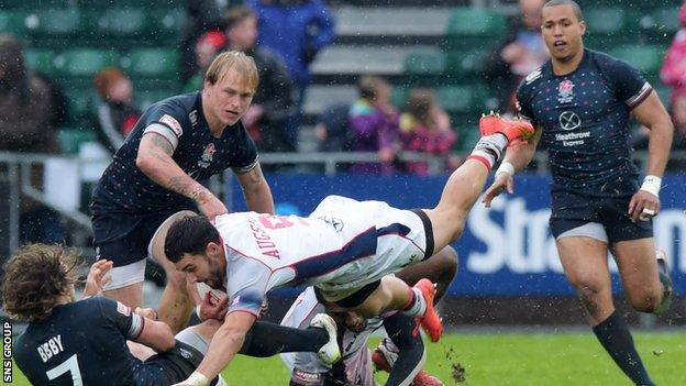 England finished third at the Glasgow leg of the World Series of Sevens