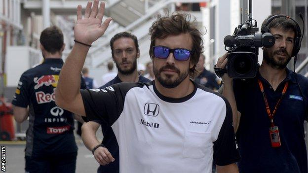 Fernando Alonso after his retirement from the Spanish Grand Prix