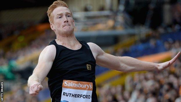 Long jumper Greg Rutherford