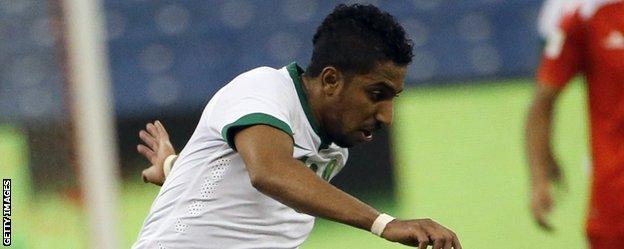 Salem Al Dawsari in action for Saudi Arabia
