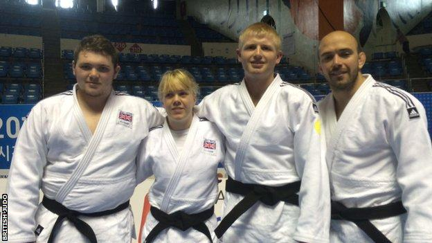 Jack Hodgson, Natalie Greenhough, Chris Skelley and Sam Ingram