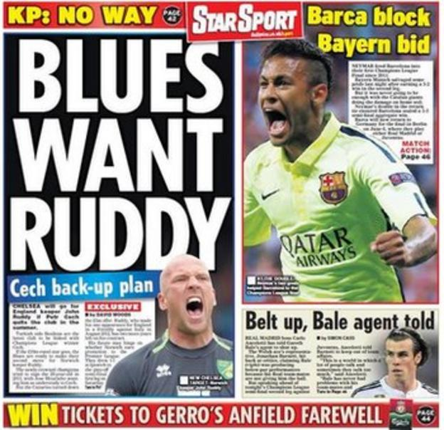 Wednesday's Daily Star back page