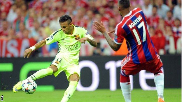 Barcelona's Neymar has scored six in his last four Champions League games