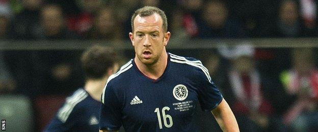 Charlie Adam in action for Scotland against Poland in March 2014
