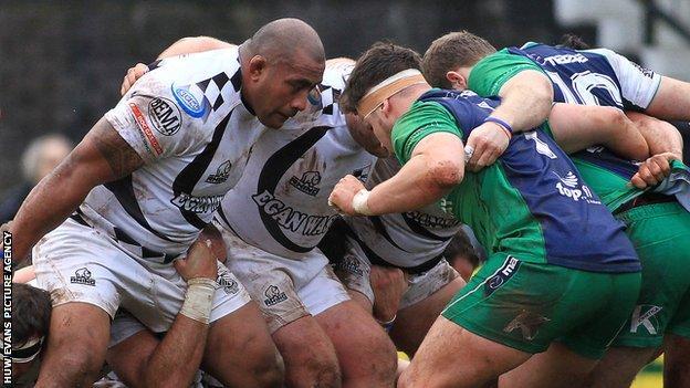 Pontypridd take on Connacht 'A' in the British & Irish Cup