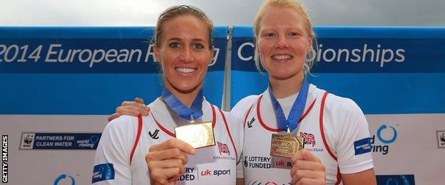 Helen Glover and Polly Swann