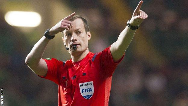 Willie Collum was placed on on Fifa's elite referee list in 2012