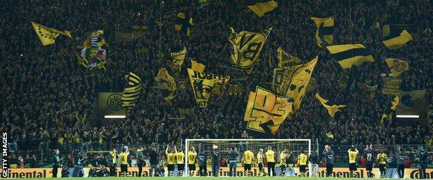 Scotland has tended to lack behind Germany in terms of fan engagement and initiatives like safe standing.
