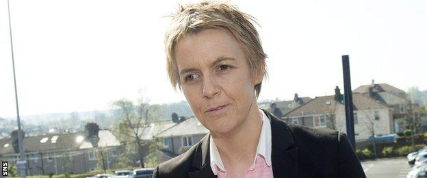 Hibs chief executive Leeann Dempster was concerned that Hearts v Rangers would be played on a different day than her club's game.