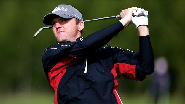 Michael Hoey is in action at the Spanish Open in Barcelona