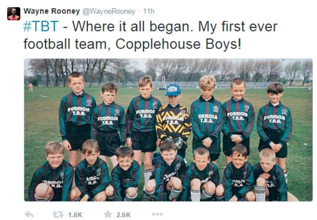 Wayne Rooney's first team