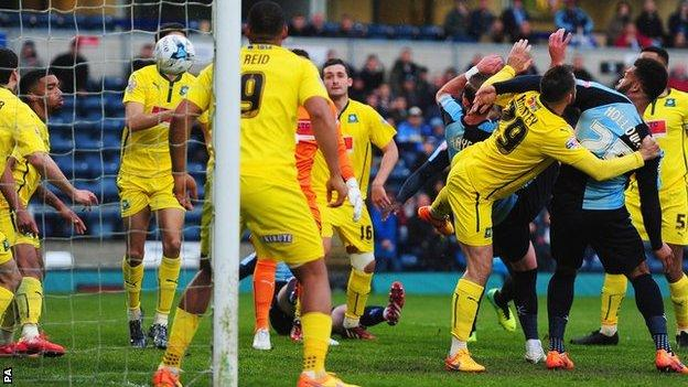 Paul Hayes opens the scoring for Wycombe