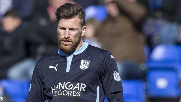 Dundee midfielder Iain Davidson